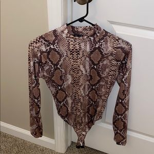 Missguided snake skin body suit